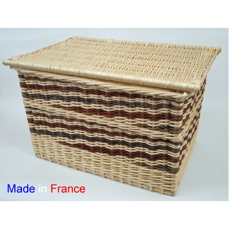 Coffre rectangle blanc & brut L.60cm